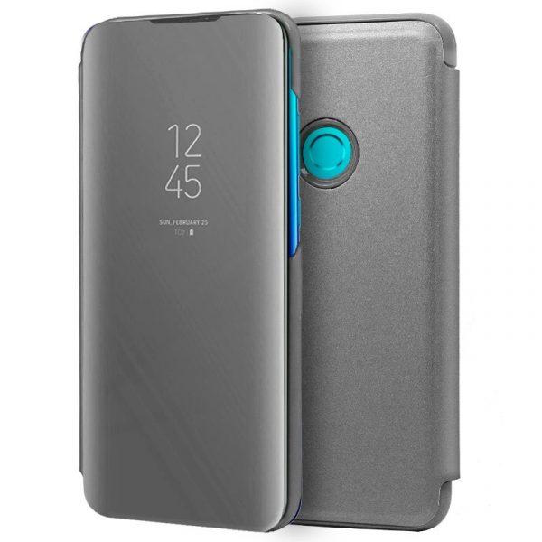 Funda Flip Cover Huawei P Smart (2019) / Honor 10 Lite Clear View Plata 1