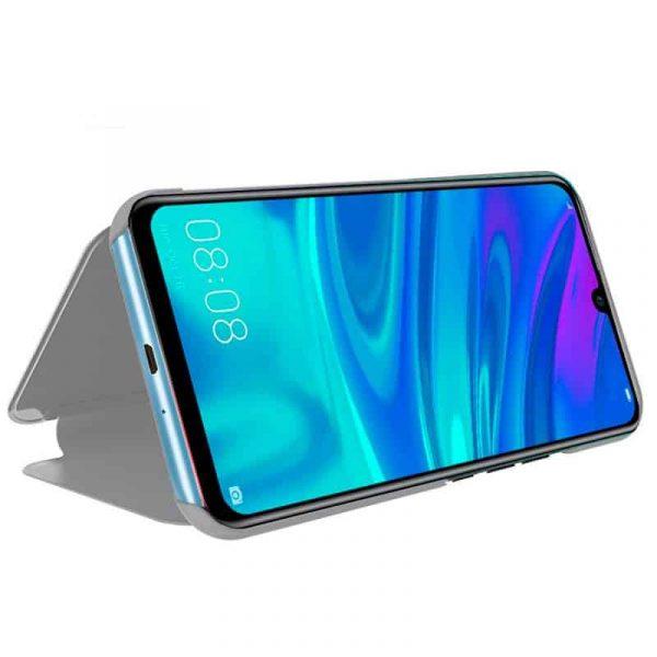 Funda Flip Cover Huawei P Smart (2019) / Honor 10 Lite Clear View Plata 2