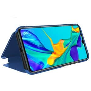 funda flip cover huawei p30 clear view azul2