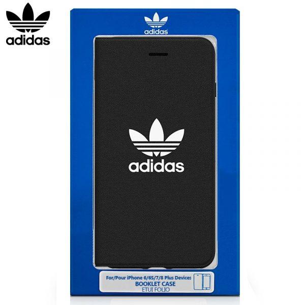 funda flip cover iphone 6 plus 6s plus licencia adidas negro