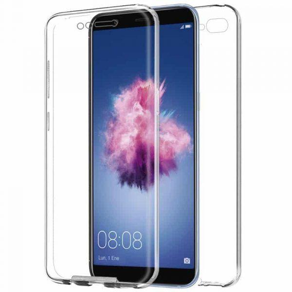 Funda Silicona 3D Huawei P Smart (Transparente Frontal + Trasera) 1