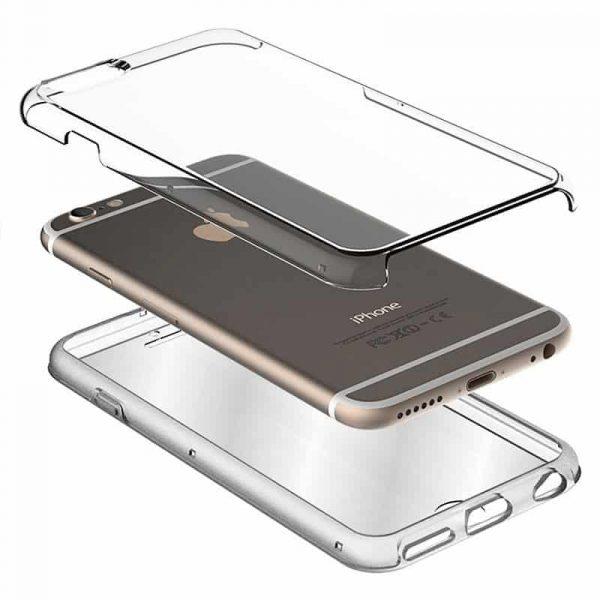 Funda Silicona 3D Huawei P Smart (Transparente Frontal + Trasera) 2