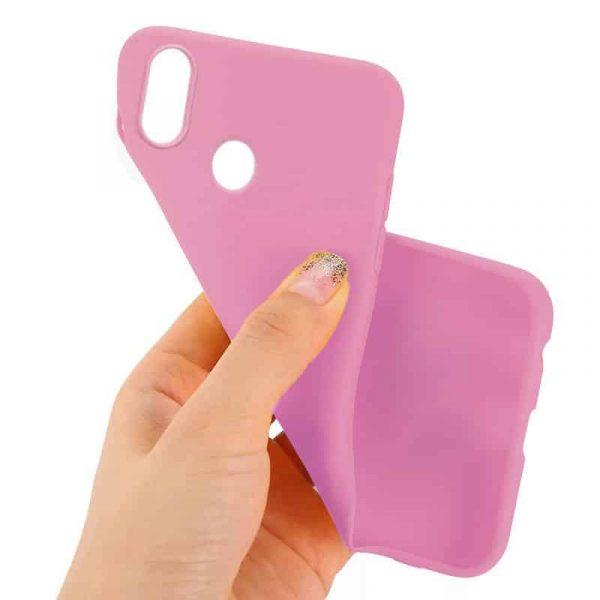 funda silicona huawei p20 lite rosa2
