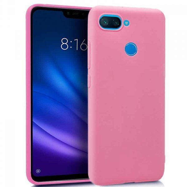 Funda Silicona Xiaomi Mi 8 Lite (Rosa) 1