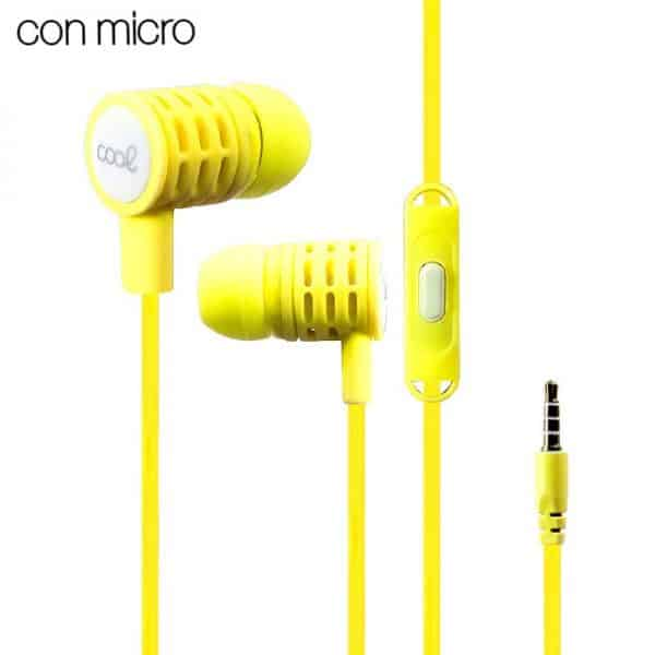 auriculares 35 mm cool extra bass stereo con micro amarillo2