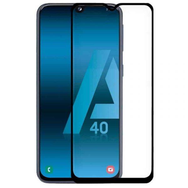 protector pantalla cristal templado samsung a405 galaxy a40 full 3d negro