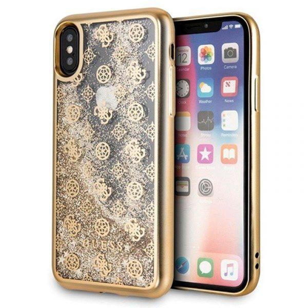 Carcasa iPhone X / iPhone XS Licencia Guess Liquid Dorado 1