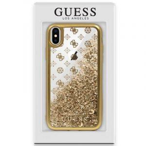 Carcasa iPhone X / iPhone XS Licencia Guess Liquid Dorado 4