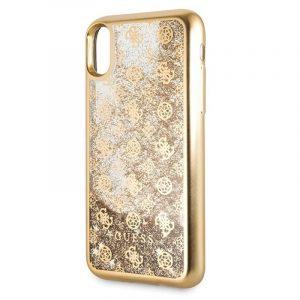 Carcasa iPhone X / iPhone XS Licencia Guess Liquid Dorado 5