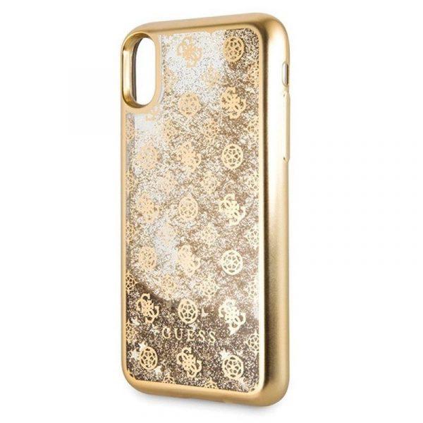 Carcasa iPhone X / iPhone XS Licencia Guess Liquid Dorado 3