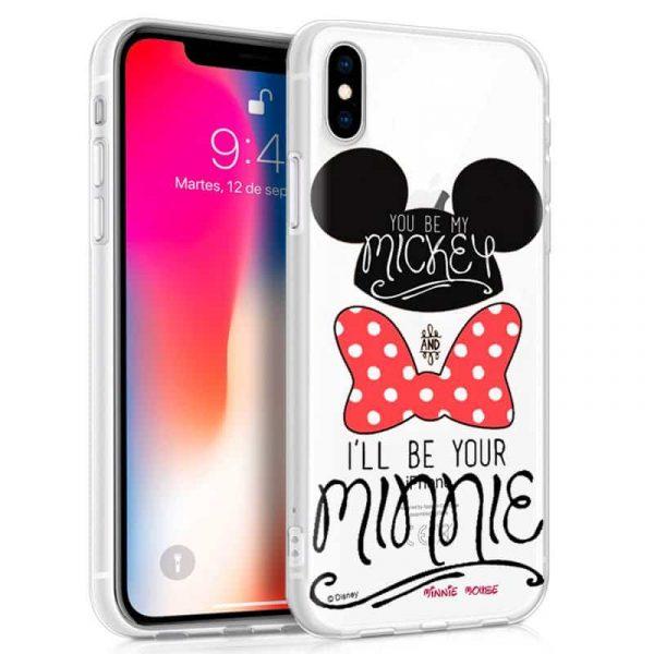 Carcasa iPhone XR Licencia Disney Mickey and Minnie 1