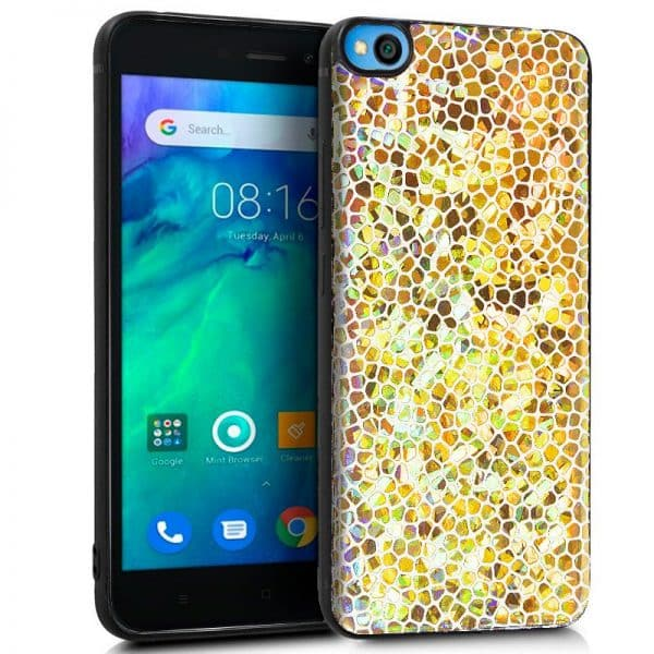 Carcasa Xiaomi Redmi Go Brillo Dorado 1