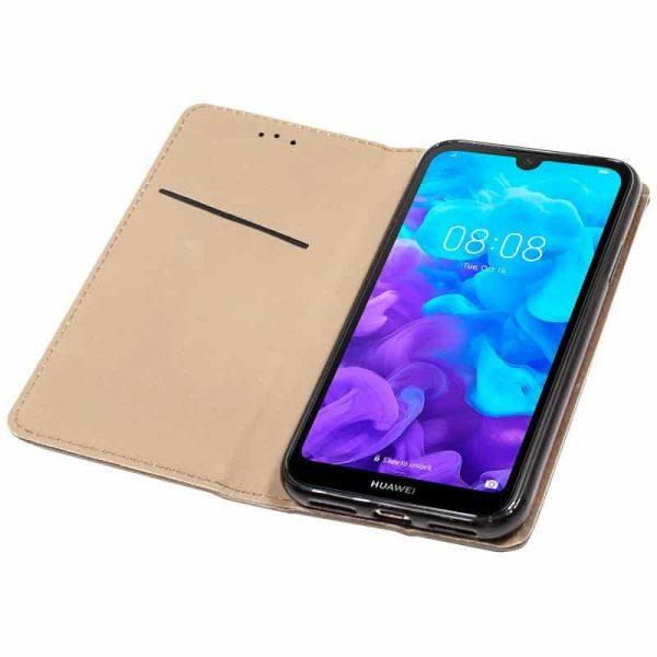 Funda Con Tapa Huawei Y5 2019 Liso Beige 3