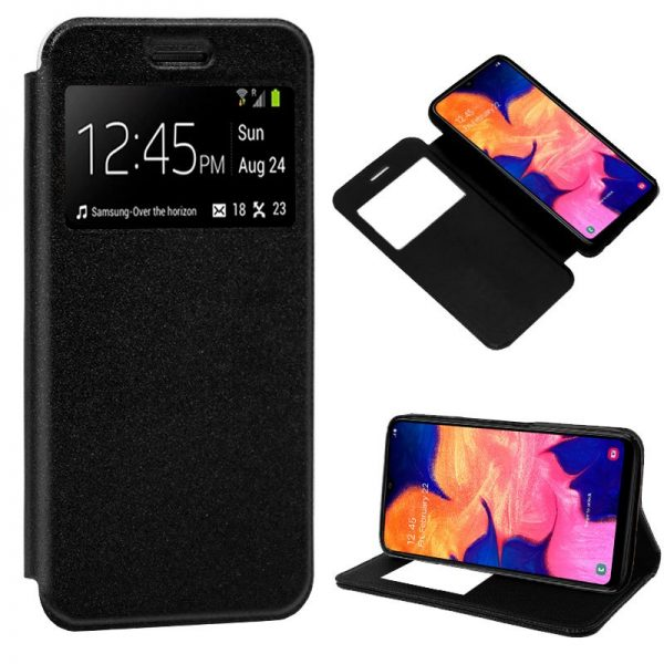 Funda Flip Cover Samsung Galaxy A10 Liso Negro 2