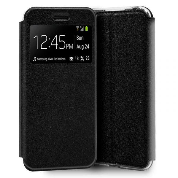 Funda Flip Cover Samsung Galaxy A10 Liso Negro 1