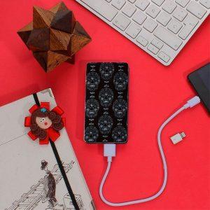 Bateria Externa Micro-Usb Power Bank 5000 MAh Design Skully YZSY 6