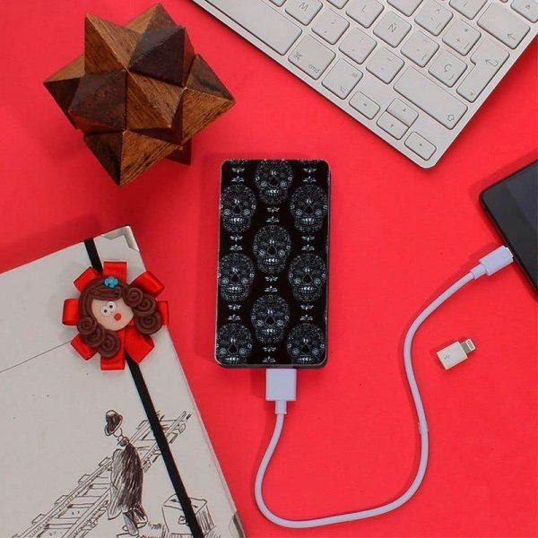 Bateria Externa Micro-Usb Power Bank 5000 MAh Design Skully YZSY 3