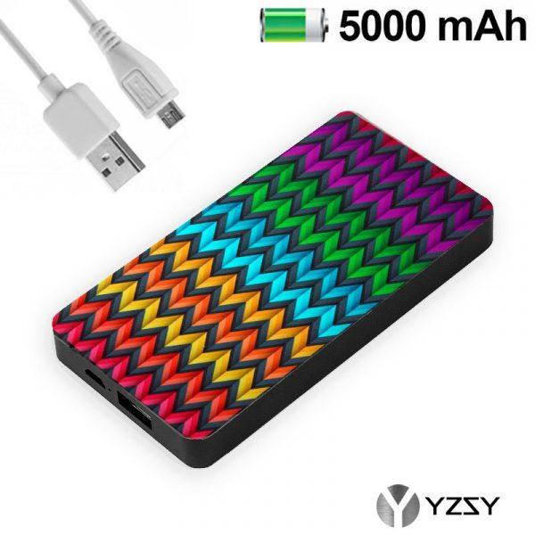 Bateria Externa Micro-Usb Power Bank 5000 MAh Design Zig-Zag YZSY 1