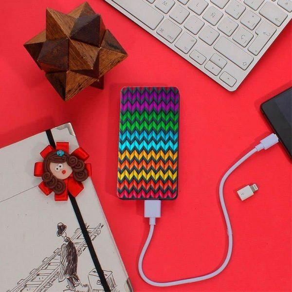 Bateria Externa Micro-Usb Power Bank 5000 MAh Design Zig-Zag YZSY 3