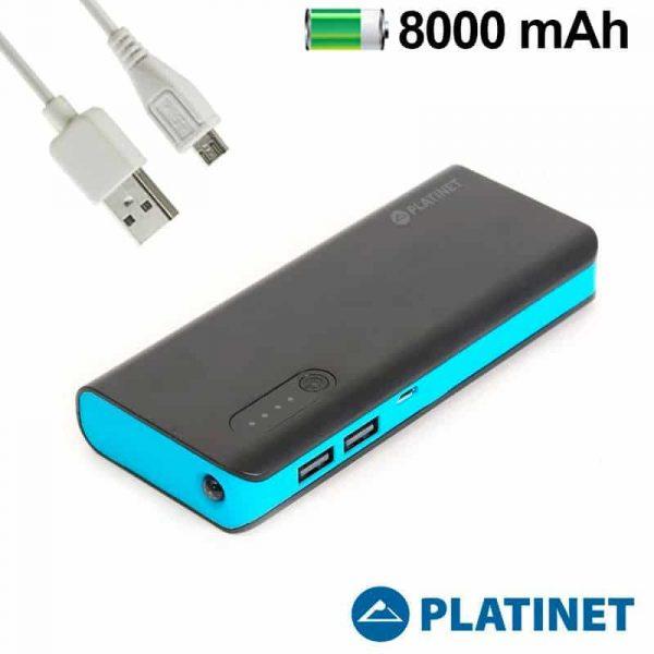 Bateria Externa Micro-Usb Power Bank 8000 MAh Platinet Azul 1