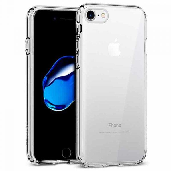 Carcasa iPhone 7 / iPhone 8 Borde Metalizado (Plata) 1