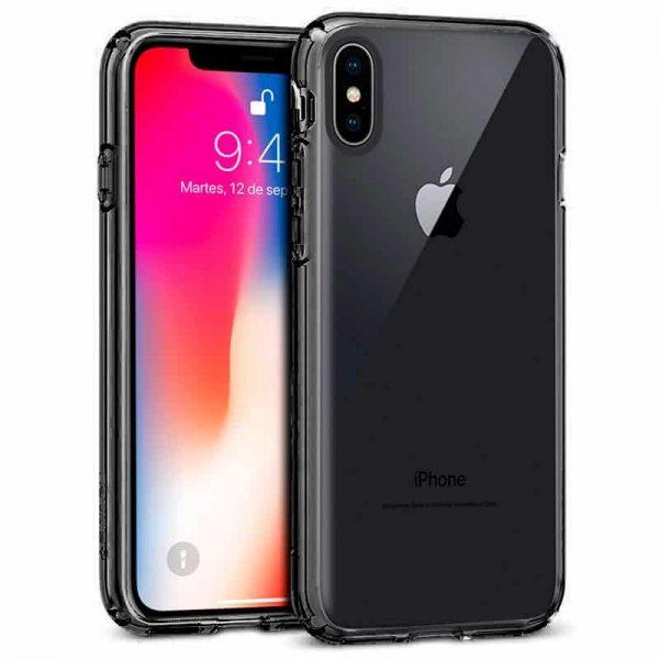 Carcasa iPhone X / iPhone XS Borde Metalizado (Negro) 1