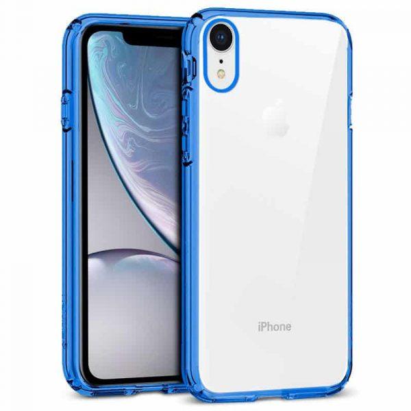 Carcasa iPhone XR Borde Metalizado (Azul) 1