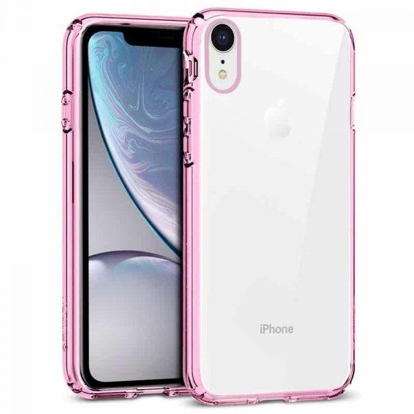 Carcasa iPhone XR Borde Metalizado (Rosa) 1