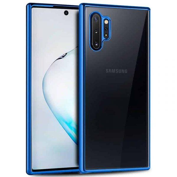 Carcasa Samsung Galaxy Note 10 Plus Borde Metalizado (Azul) 1