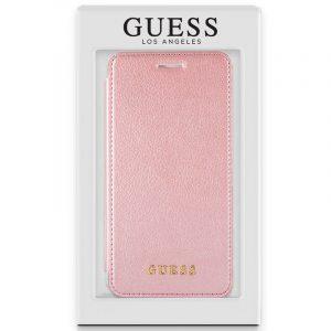 Funda Flip Cover iPhone X / iPhone XS Licencia Guess Rosa 4