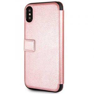Funda Flip Cover iPhone X / iPhone XS Licencia Guess Rosa 5