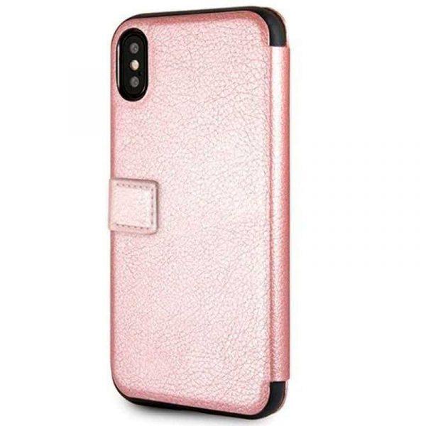 Funda Flip Cover iPhone X / iPhone XS Licencia Guess Rosa 3