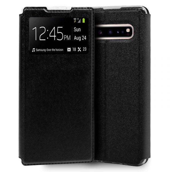 Funda Con Tapa Samsung Galaxy S10 5G Liso Negro 1