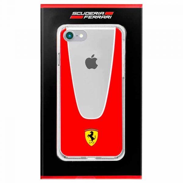 carcasa iphone 7 iphone 8 licencia ferrari transparente line rojo1