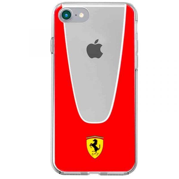 carcasa iphone 7 iphone 8 licencia ferrari transparente line rojo3