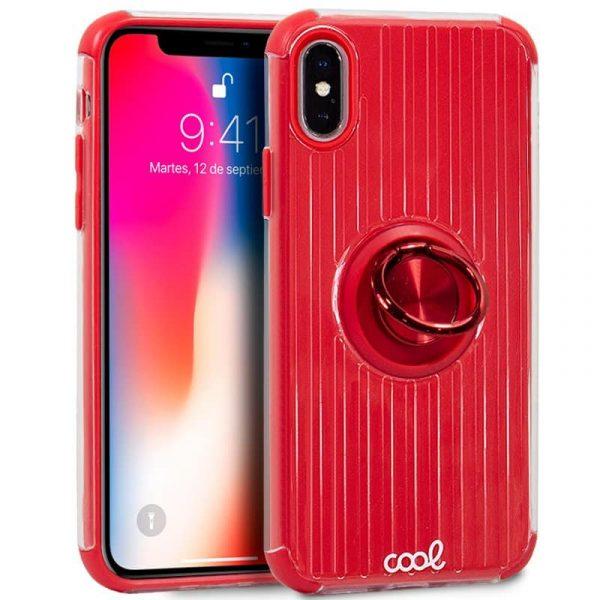 Carcasa iPhone X / iPhone XS Hard Anilla Rojo 1