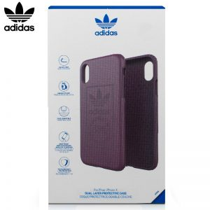 Carcasa iPhone X / iPhone XS Licencia Adidas Hard Violeta 7