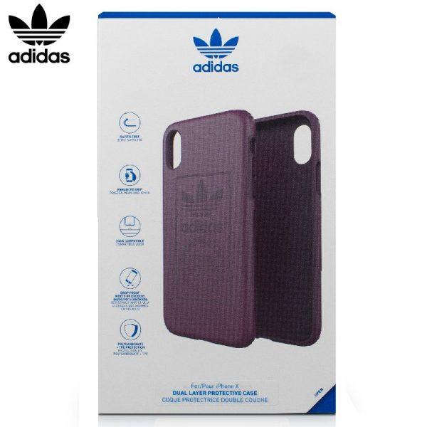 Carcasa iPhone X / iPhone XS Licencia Adidas Hard Violeta 4