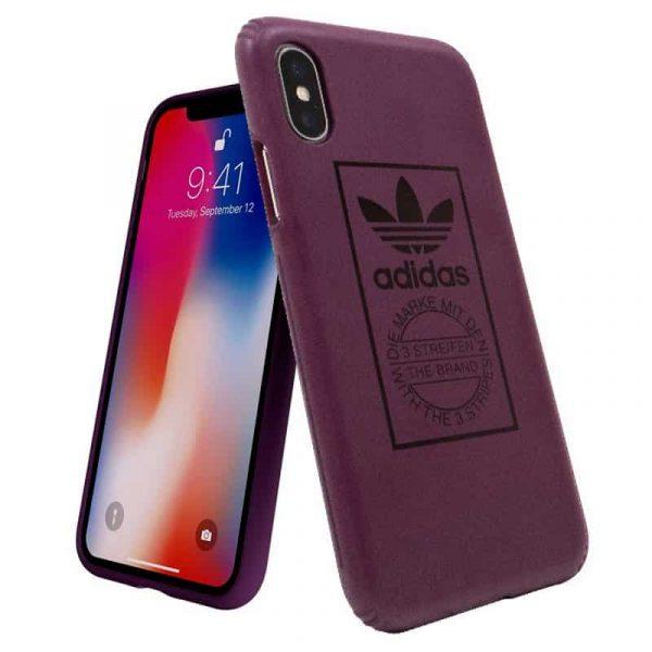 Carcasa iPhone X / iPhone XS Licencia Adidas Hard Violeta 3