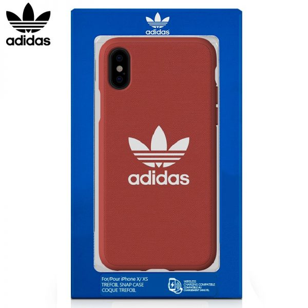 Carcasa iPhone X / iPhone XS Licencia Adidas Tela Rojo 4