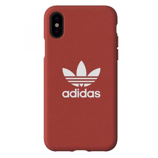 Carcasa iPhone X / iPhone XS Licencia Adidas Tela Rojo 1