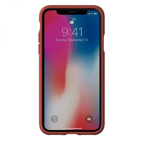 Carcasa iPhone X / iPhone XS Licencia Adidas Tela Rojo 2