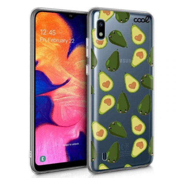 Carcasa Samsung Galaxy A10 Clear Aguacates 1