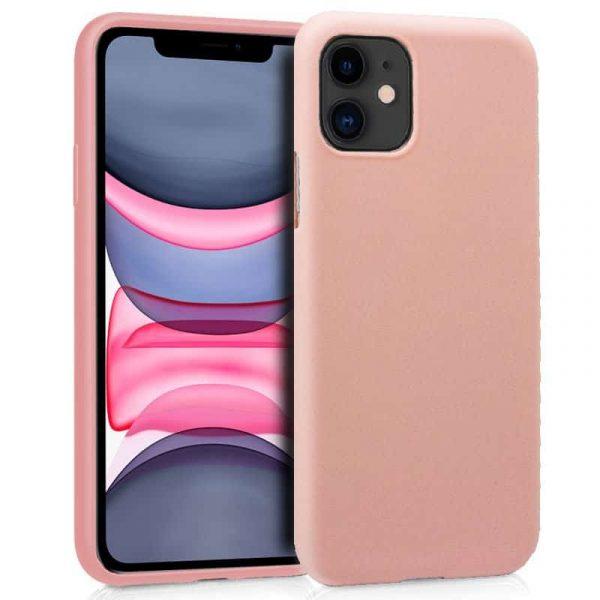 funda silicona iphone 11 rosa1