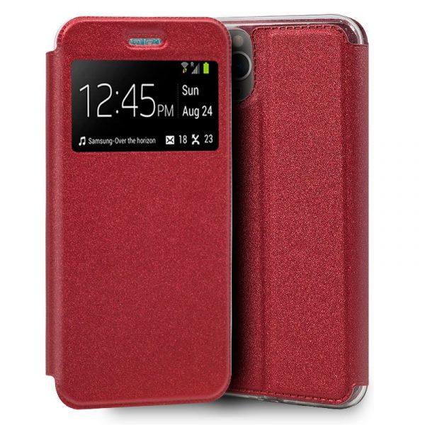 funda flip cover iphone 11 pro liso rojo1
