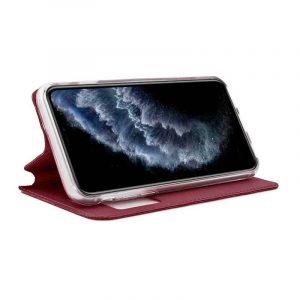 funda flip cover iphone 11 pro liso rojo2