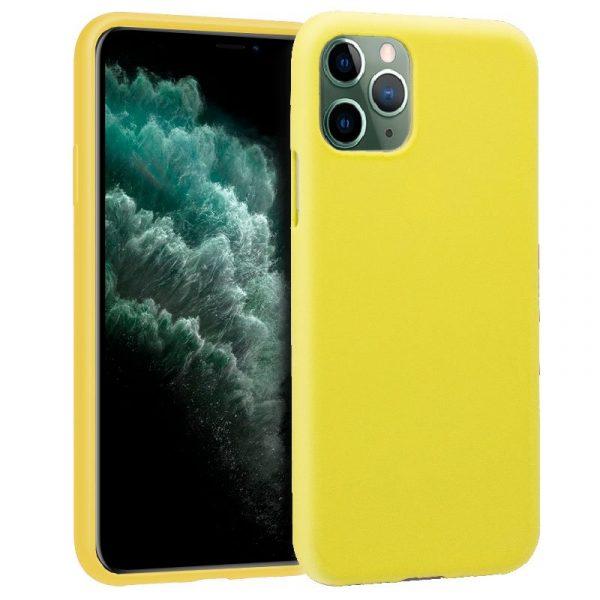 Funda Silicona iPhone 11 Pro Max (Amarillo) 1