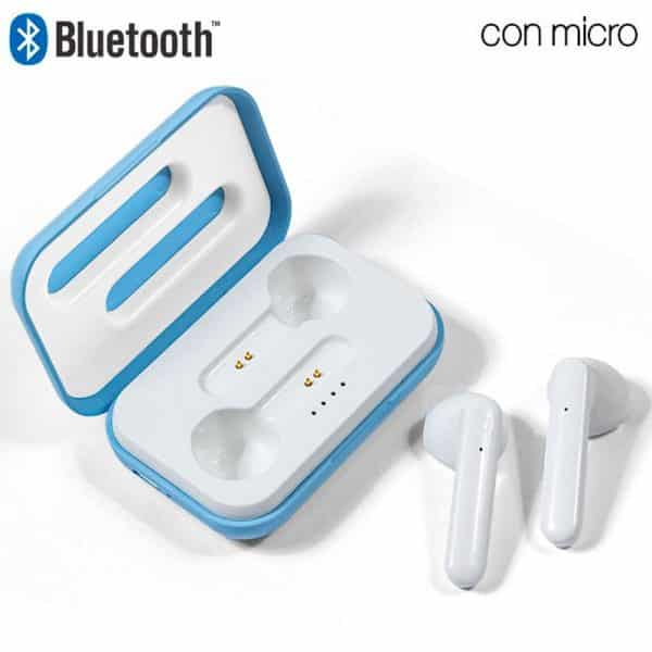 Auriculares Stereo Bluetooth Dual Pod COOL STYLE Celeste 1