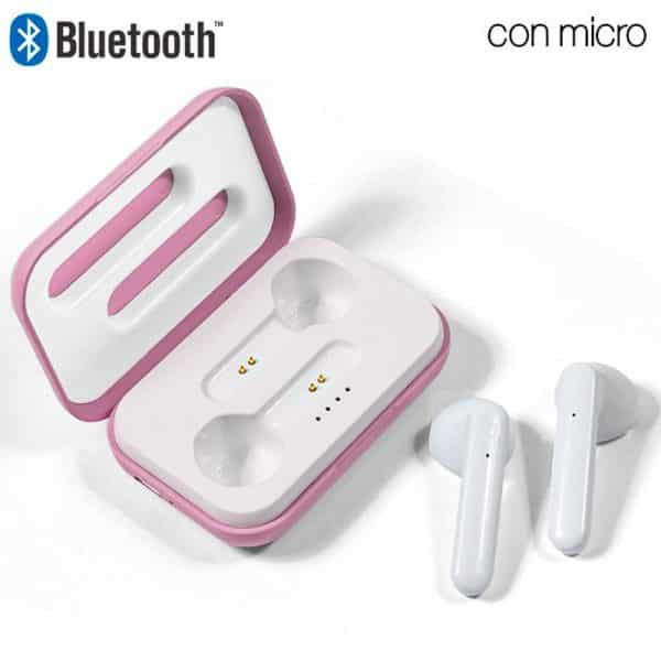 Auriculares Stereo Bluetooth Dual Pod COOL STYLE Rosa 1