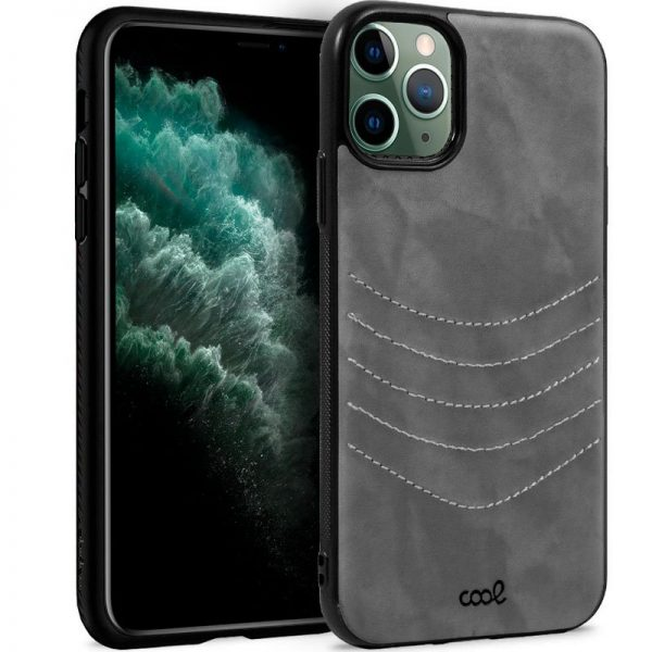 carcasa iphone 11 pro max leather bordado gris1